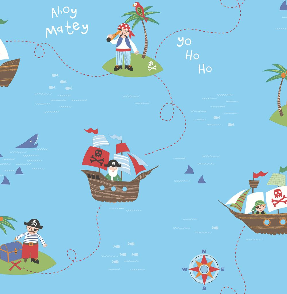 Albany Funny Pirates Blue Wallpaper - Product code: SZ002101