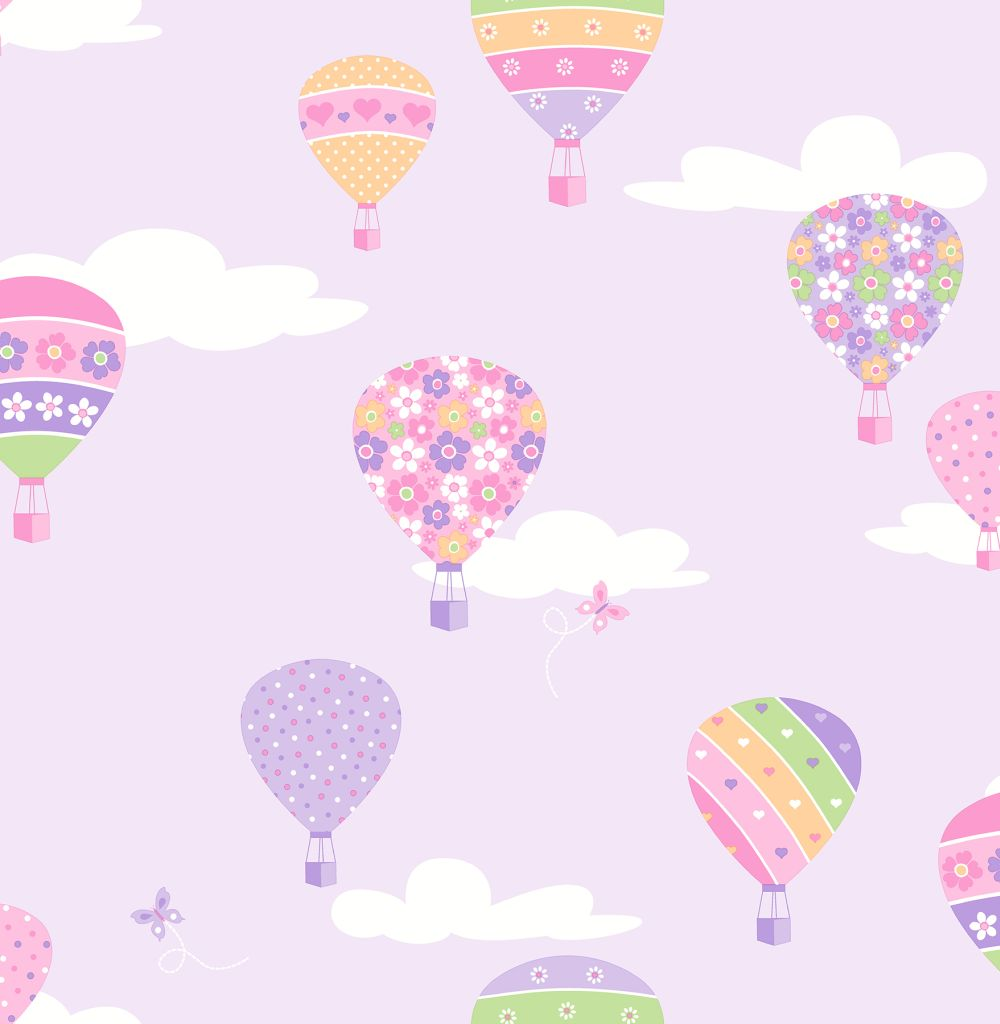 hot air balloons by albany lilac wallpaper direct