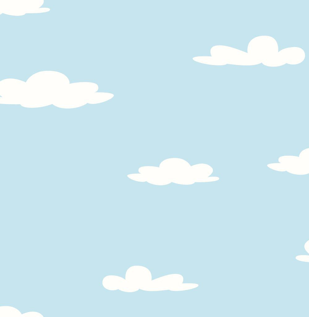 Albany Clouds Blue Wallpaper main image