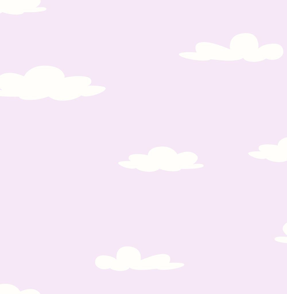 Albany Clouds Lilac Wallpaper main image