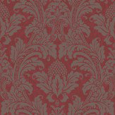 Cole & Son Blake Red / Silver Wallpaper