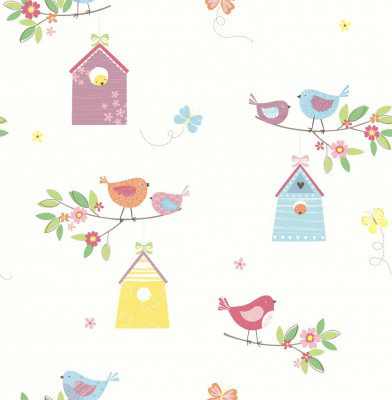 Albany Wallpapers Birdhouses, SZ002126