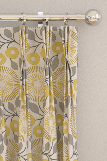 Pompom curtains by Natasha Marshall - Lemon Slice : Wallpaper Direct