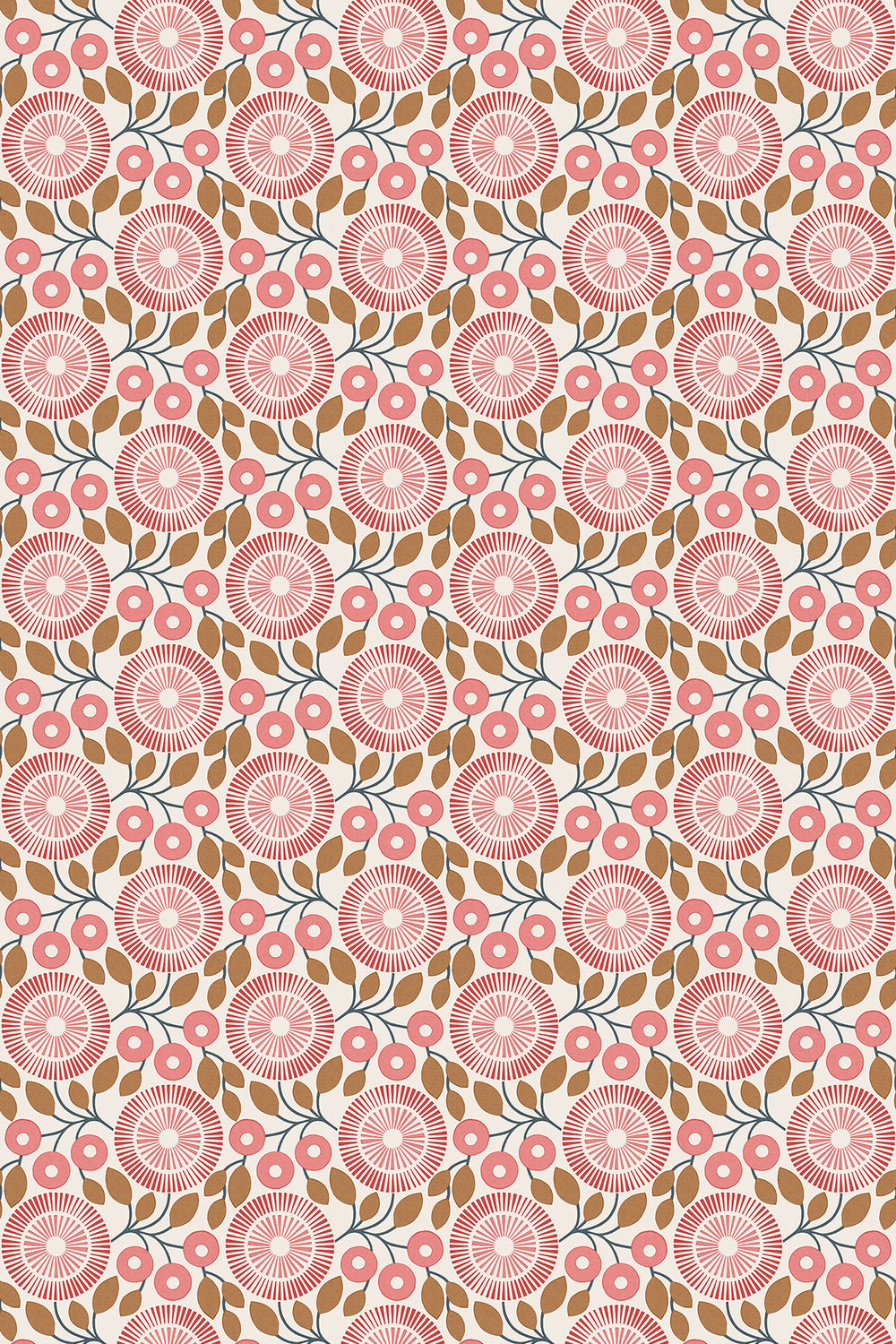 Pompom by natasha marshall coral wallpaper direct for Wallpaper direct