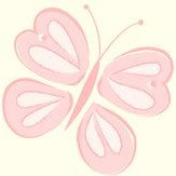 Albany Butterflies Salmon Pink Wallpaper
