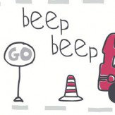 Albany Beep Beep Grey Wallpaper