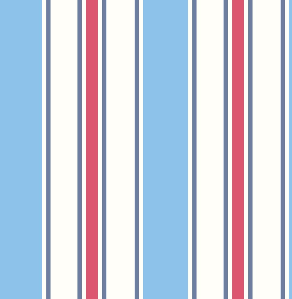 Albany Wide Stripe Blue and Red Wallpaper - Product code: SZ002143