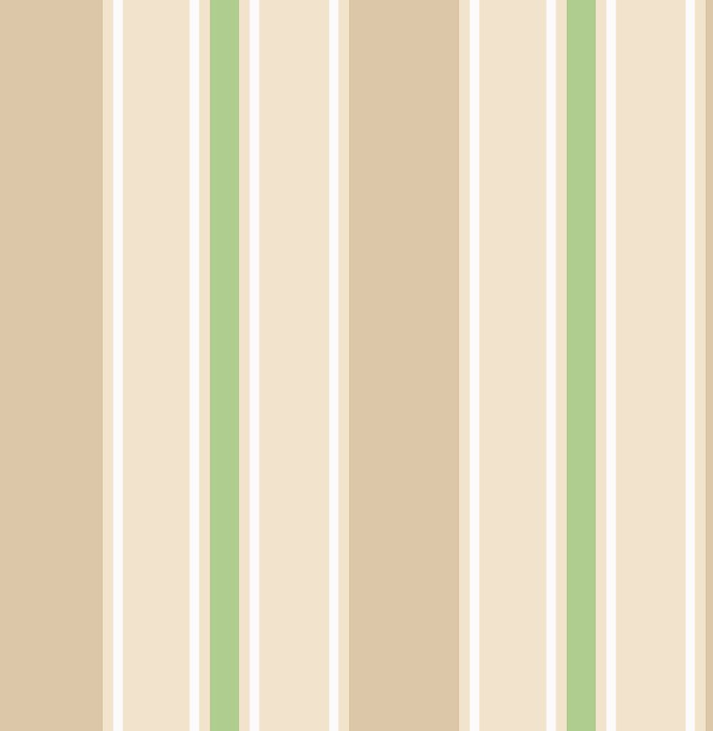 Albany Wide Stripe Cream and Green Wallpaper - Product code: SZ002144