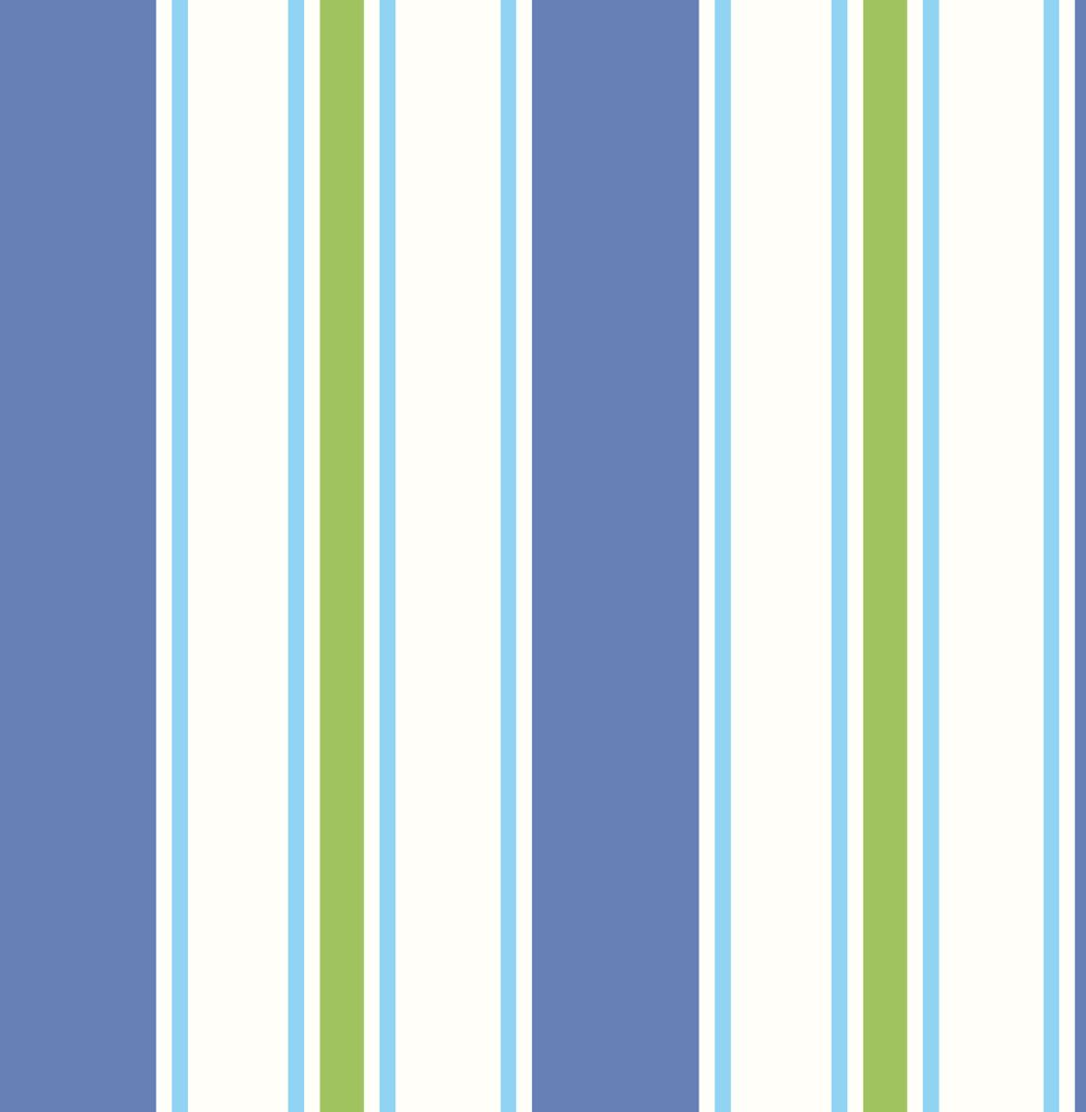 Albany Wide Stripe Blue and Green Wallpaper - Product code: SZ002146