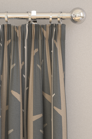 Timber blinds by Natasha Marshall - Pewter : Wallpaper Direct