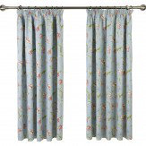 iliv Botanica Tulipa Pencil Pleat Lined Curtains Duck Egg Ready Made Curtains - Product code: 677050
