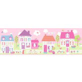 Albany Happy Street Village Border Pink - Product code: FDB50119