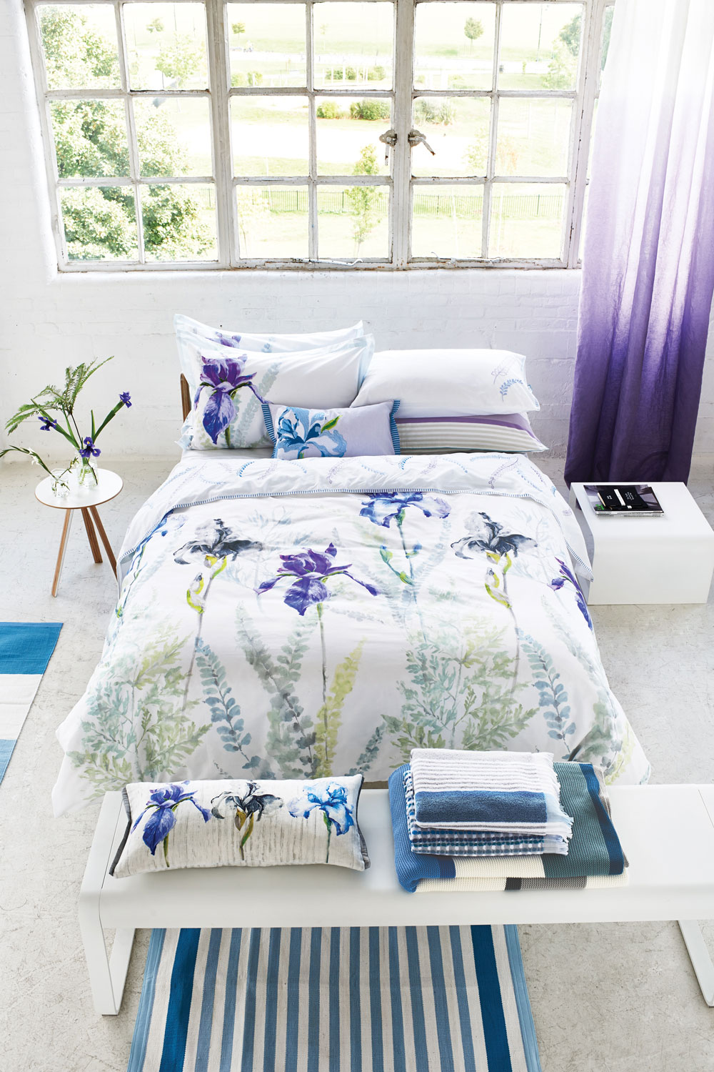 Antoinette Single Duvet By Designers Guild Wedgewood