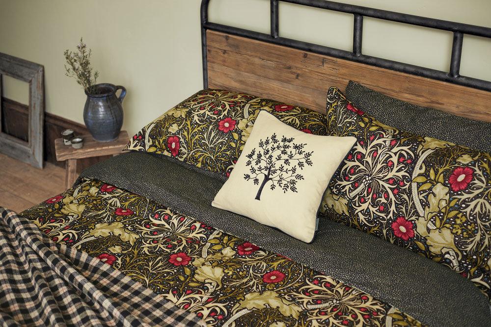 Morris Seaweed Duvet Black Duvet Cover - Product code: 021010