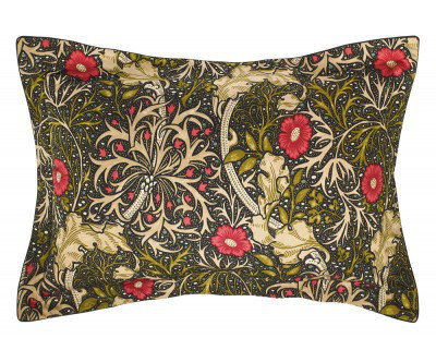 Image of Morris Pillowcases Seaweed Oxford Pillowcase, 021030
