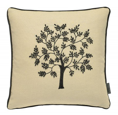 Image of Morris Cushions Seaweed Embroidered Cushion, 021055
