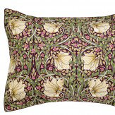 Morris Pimpernel Oxford Pillowcase Aubergine