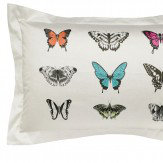Harlequin Papilio Patterned Oxford Pillowcase Flamingo