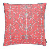 Harlequin Papilio Embroidered Cushion Coral