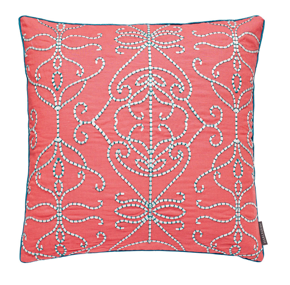 Harlequin Papilio Embroidered Cushion Coral - Product code: 614035