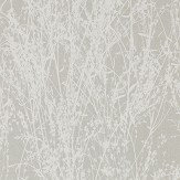 Sanderson Meadow Canvas White / Grey Wallpaper