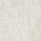 Sanderson Meadow Canvas White / Parchment Wallpaper