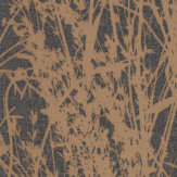 Sanderson Meadow Canvas Bronze / Charcoal Wallpaper