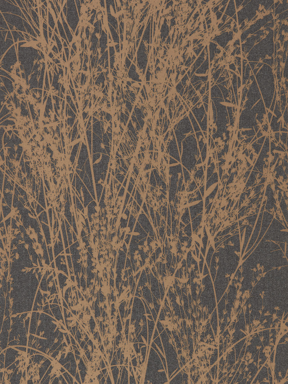 Meadow Canvas By Sanderson Bronze Charcoal Wallpaper