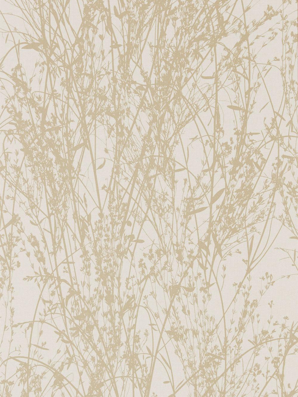 Meadow Canvas Wallpaper - Wheat / Cream - by Sanderson