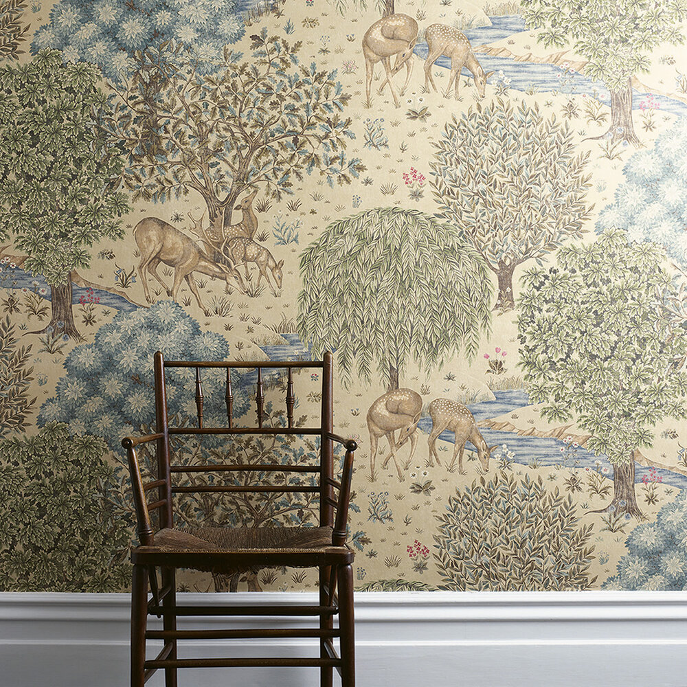 The Brook By Morris Linen Wallpaper Direct