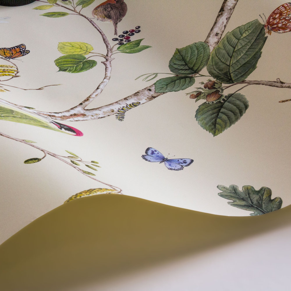 Woodland Chorus By Sanderson Cream Wallpaper