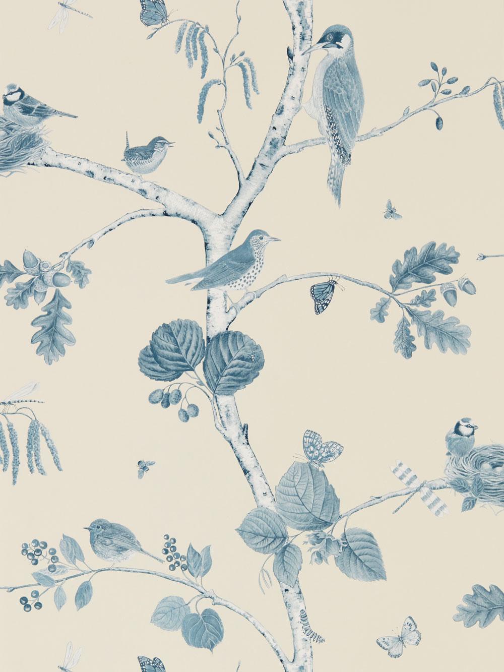 Sanderson Woodland Chorus Indigo Wallpaper - Product code: 215705