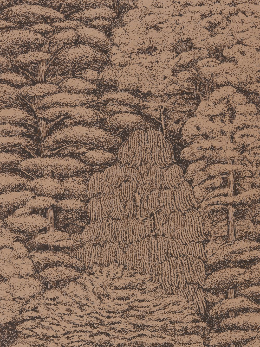 Woodland Toile By Sanderson Charcoal And Copper