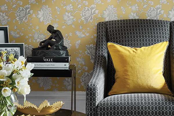 Wedgwood Home Fabled Floral Yellow  Wallpaper