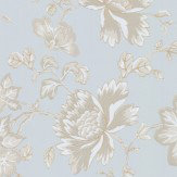 Wedgwood Home Fabled Floral Duck Egg Blue  Wallpaper