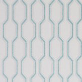 Casadeco Honeycomb Aqua Wallpaper