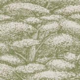 Sanderson Woodland Toile Cream and Green Wallpaper