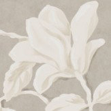 Sanderson Magnolia & Pomegranate Silver and Linen Wallpaper