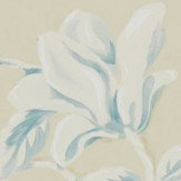 Sanderson Magnolia & Pomegranate Parchment and Sky Blue Wallpaper