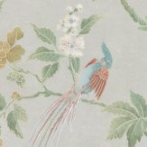 Little Greene Paradise Pale Grey Wallpaper