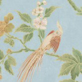 Little Greene Paradise Sky Blue Wallpaper