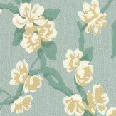 Little Greene Sakura Aqua Wallpaper