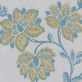 Little Greene Stitch Blue Wallpaper