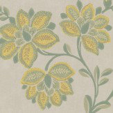 Little Greene Stitch Green Wallpaper