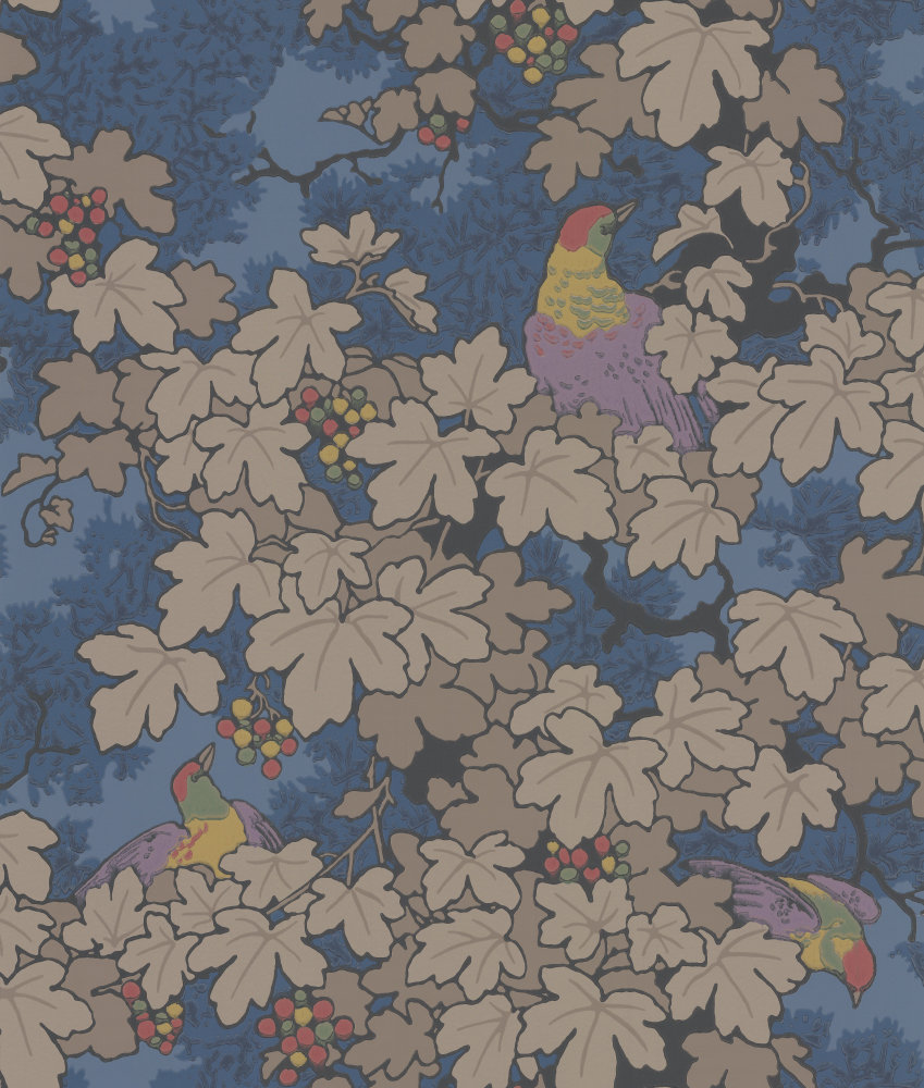 Little Greene Vine Blue Wallpaper main image