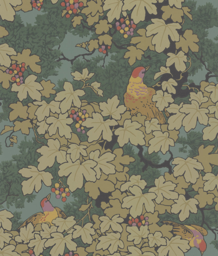 Little Greene Vine Green Wallpaper main image