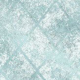 Albany Foil Diamond Aqua Blue Wallpaper