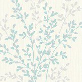Albany Summer Blossom Teal Wallpaper