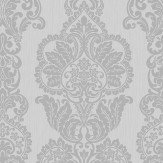 Albany Rochester Damask Grey Wallpaper
