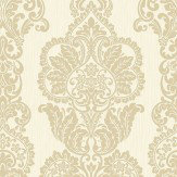 Albany Rochester Damask Gold Wallpaper